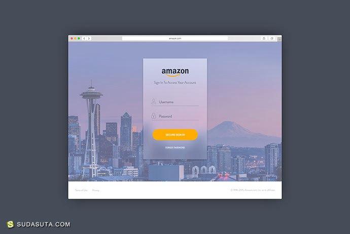 50+ 注册和登录表单UI设计欣赏