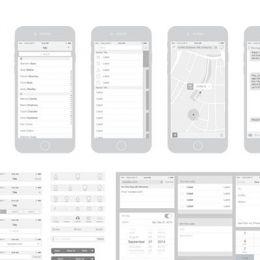 40套免费的线框图模板 含移动应用程序,Web义及UX设计