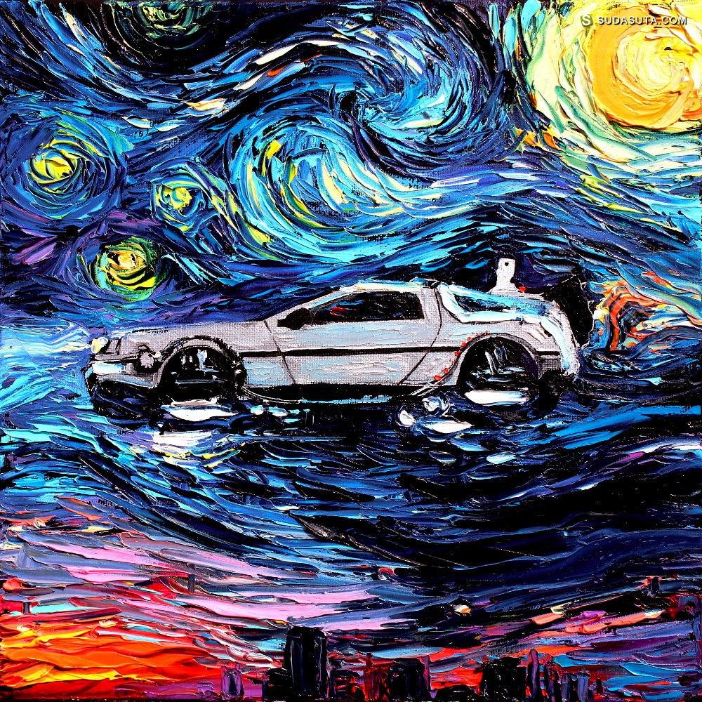 Aja Kusick 梵高的夜空 卡通同人CG欣赏