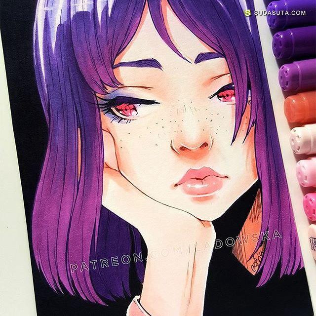 Asia Ladowska 二次元手绘插画本子