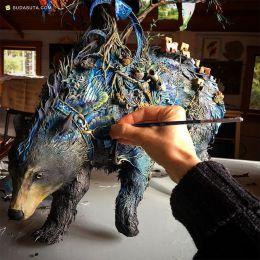 艺术家Ellen Jewett 的魔法世界 动物雕塑欣赏