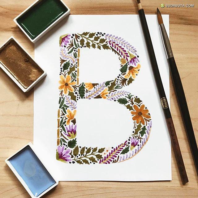 图形设计师Emilee Rudd 的手写花体字欣赏