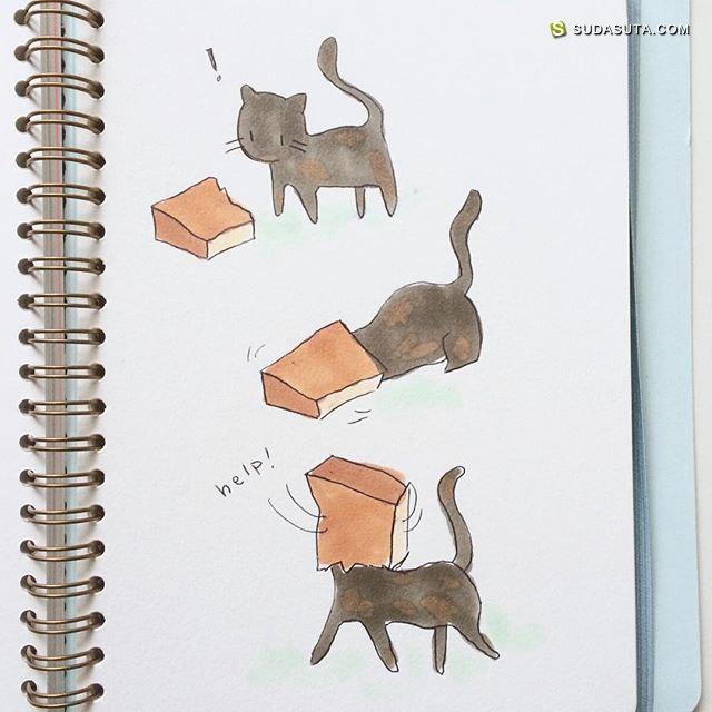Kaiami 的可爱的二次元MM手绘本子