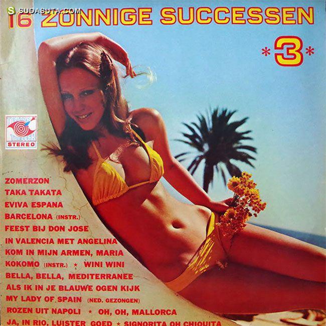 六十年代至八十年代的泳装女孩音乐CD专辑封面