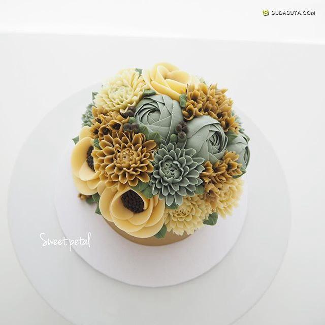 sweetpetalcake 花朵和蛋糕 美食造型设计