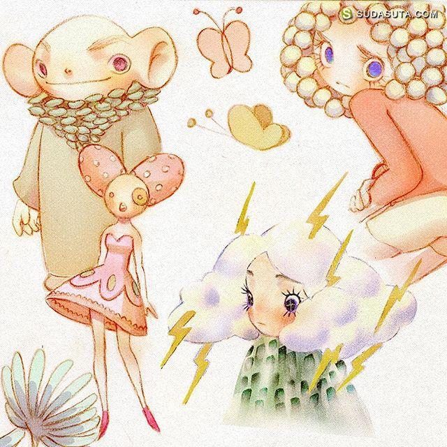 thabfu 儿童插画欣赏