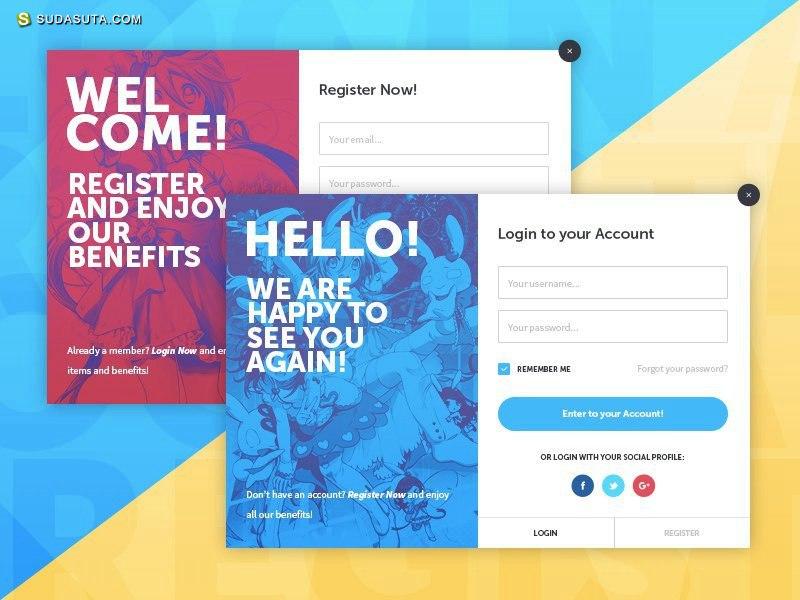 20个创意登录/注册表单设计欣赏
