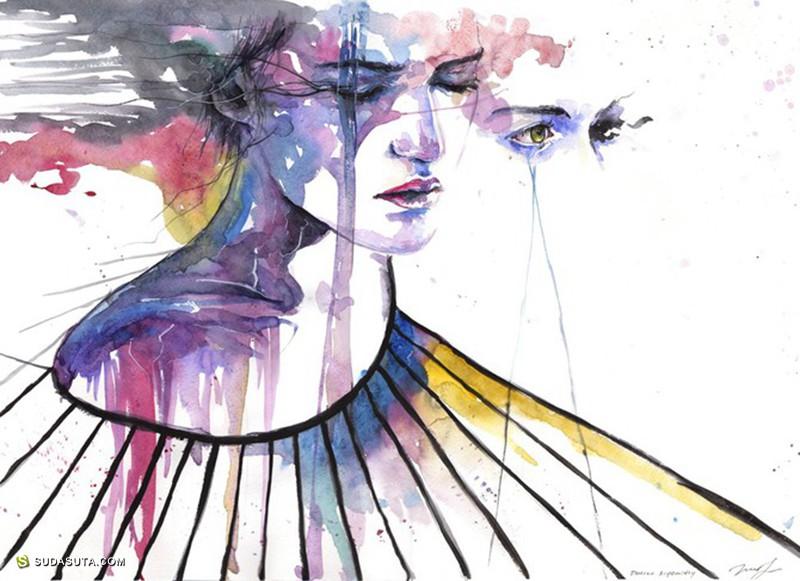 Alexandra Haynak  水彩泼墨色 时尚插画欣赏
