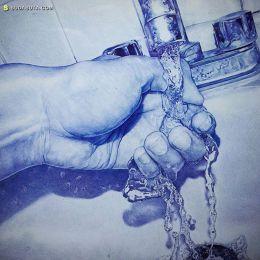Alfredo Chamal 圆珠笔插画欣赏