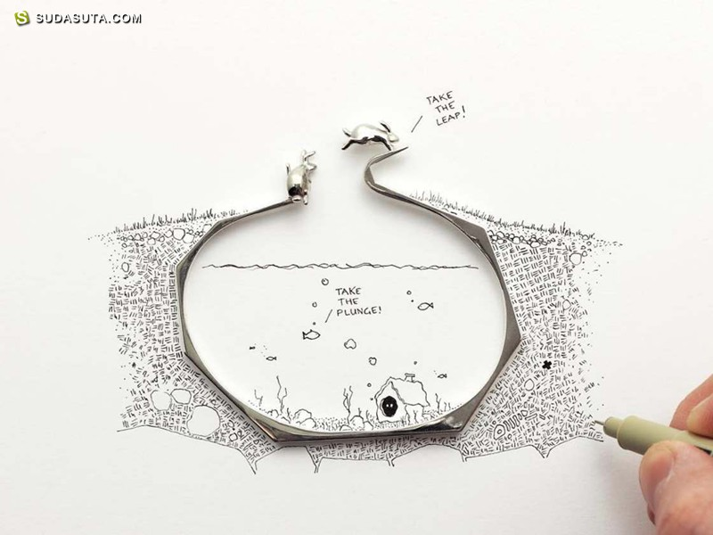 Artur Dabrowski 爱丽丝情节之首饰设计欣赏