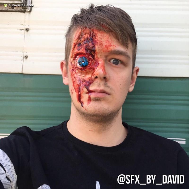 David Harris 令人疼痛的化妆艺术