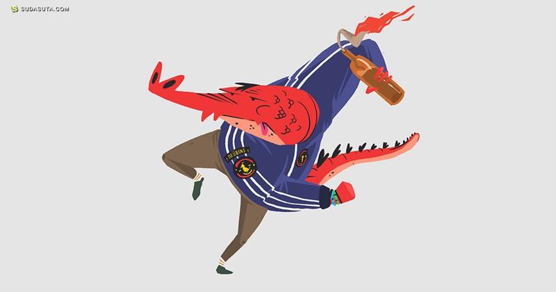 El Diablo 卡通造型设计之鳄鱼Young Turks