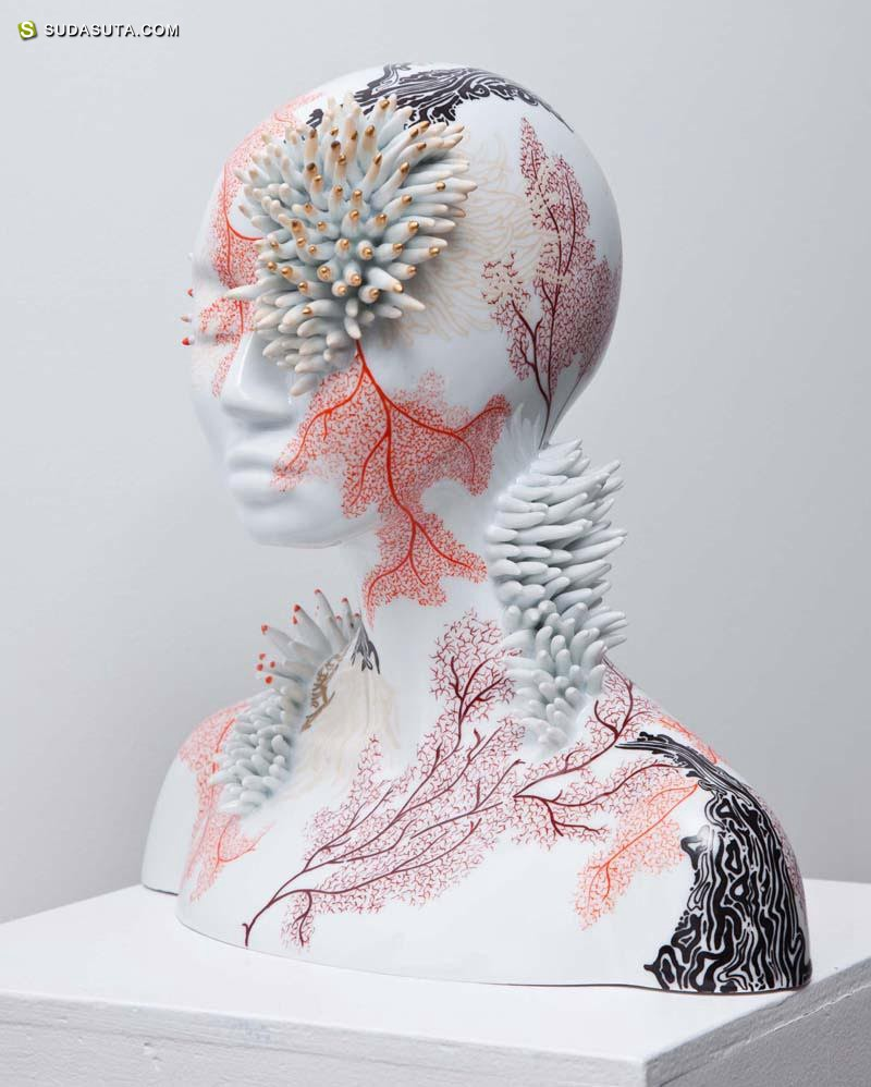 Juliette Clovis 超现实主义陶瓷雕塑欣赏