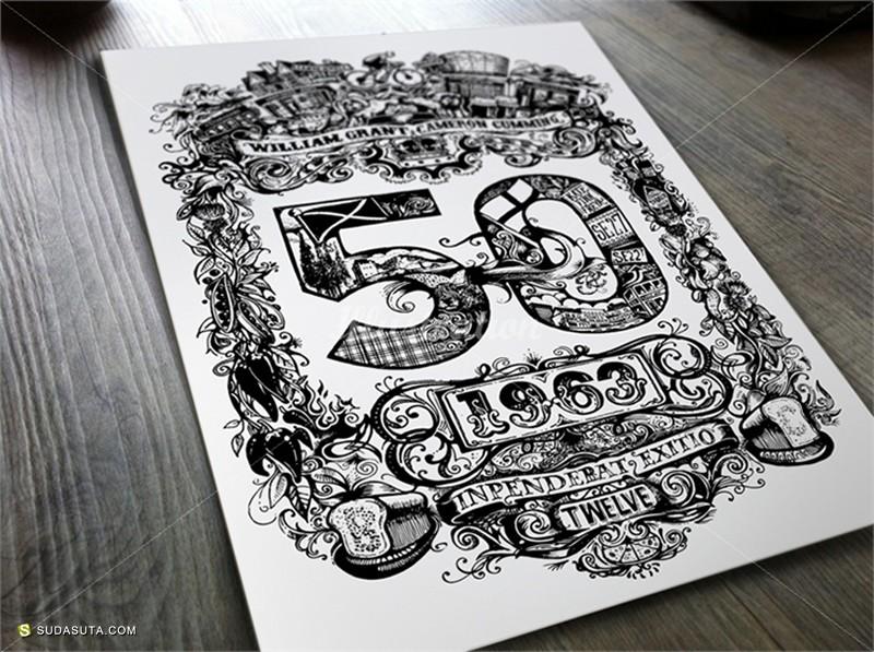 Vic Lee 繁复的手写花体字招贴设计欣赏