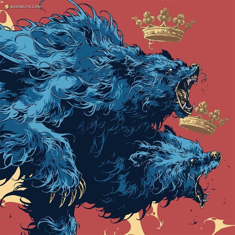 Ivan Belikov 野蛮而震撼的装饰插画欣赏