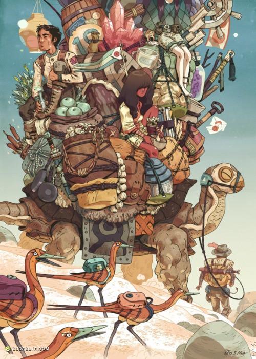 Sam Bosma 的脑洞 手绘插画欣赏