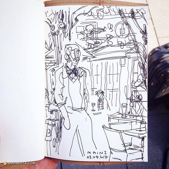 Sebastian Koch 边旅行边画画