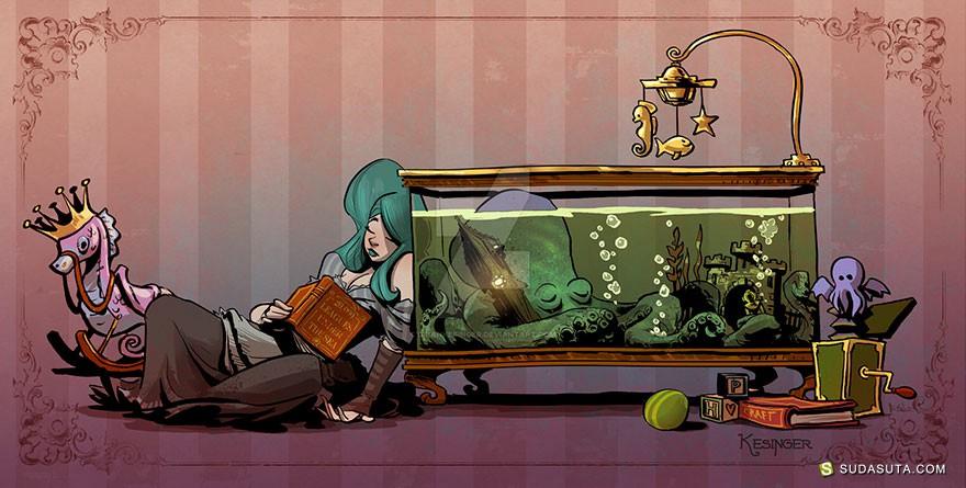 Brian Kesinger 有只章鱼是宠物
