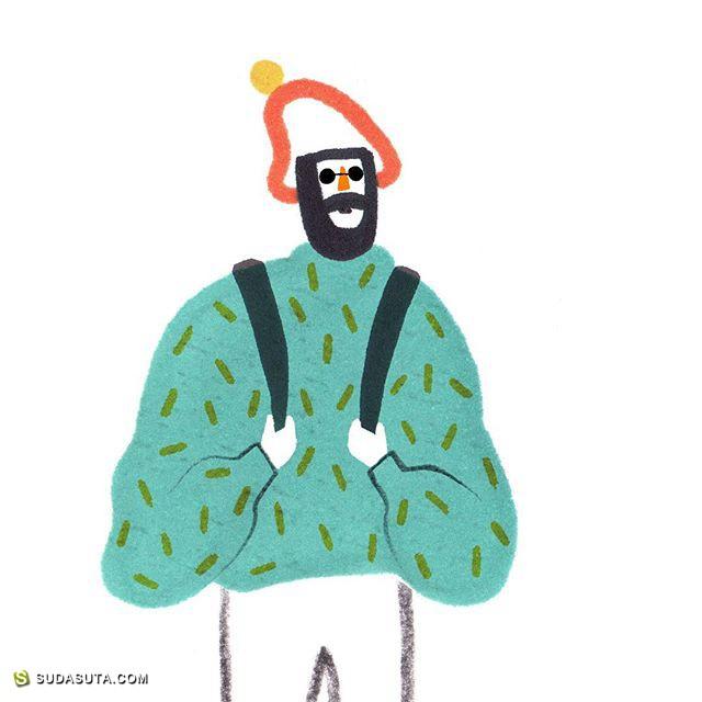 Ilka Mészely 简约而有趣的手绘小插画