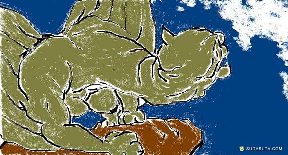 童圆娃《乡野传说中的怪物》