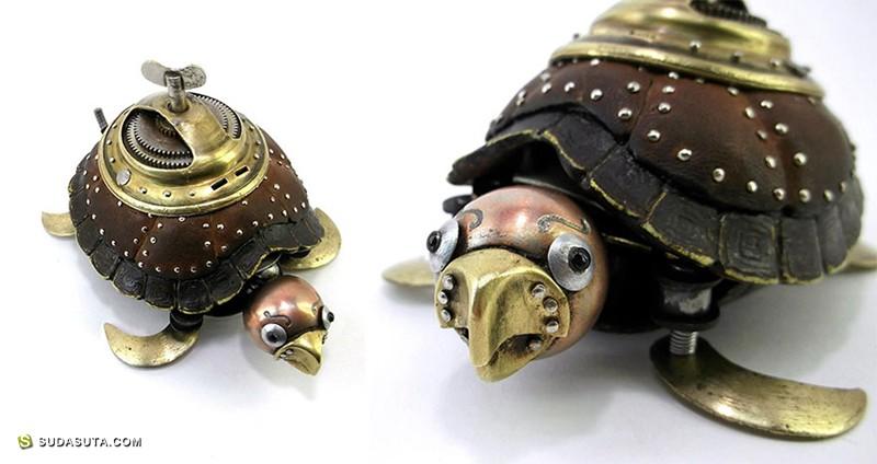 Igor Verny 的蒸汽时代 手工机械玩具设计