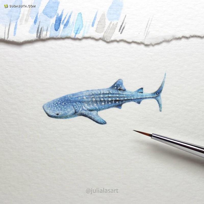 Julia 迷你细小的手绘插画