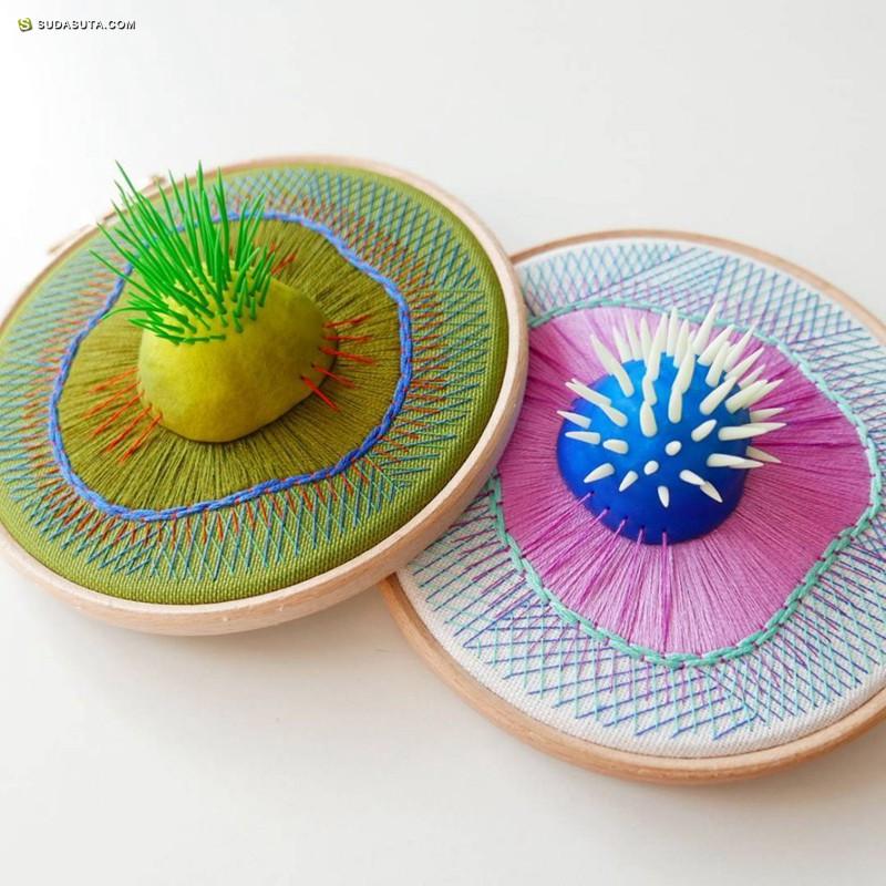 Justyna Wolodkiewicz 立体3D刺绣艺术欣赏
