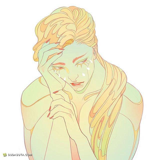 Nikita Binda 纤细而充满力量的手绘插画