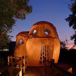 法国的猫头鹰露营小屋 建筑设计欣赏