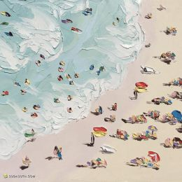 Sally West 沙滩 油画作品欣赏