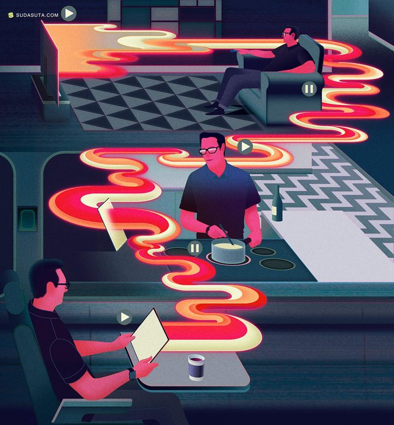 Sam Chivers 商业插画欣赏