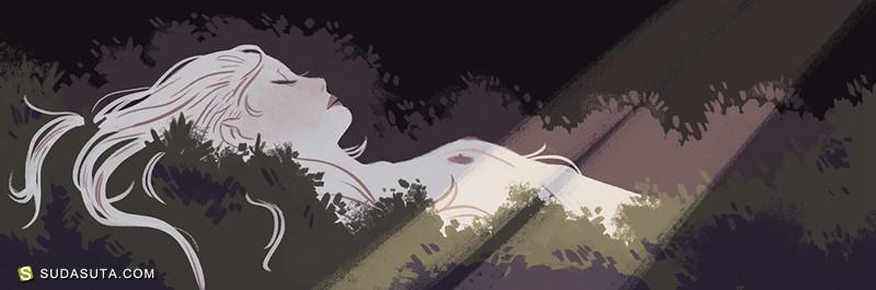 Sara Kipin 神话主题的装饰插画欣赏