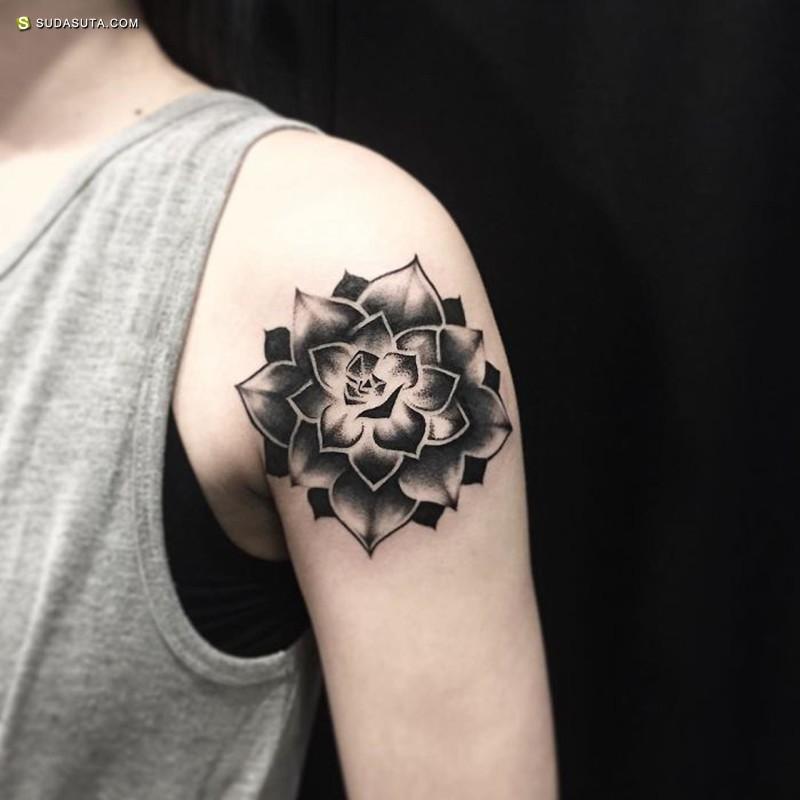 多肉君的纹身设计欣赏