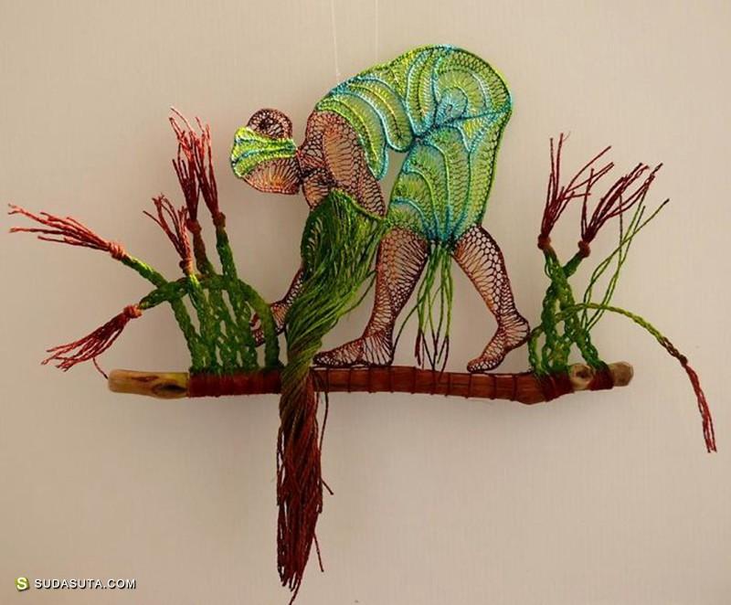 Agnes Herczeg 蕾丝与木头 混合艺术欣赏