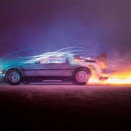 "Felix Hernandez 汽车渲染""回到未来"""