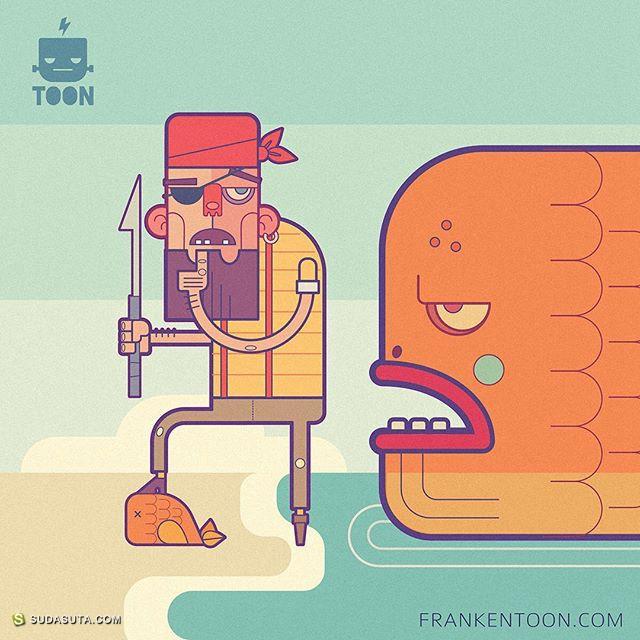 Frankentoon 卡通商业插画设计欣赏