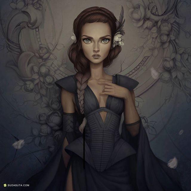 Giselle Ukardi 概念插画及草图本子