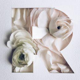 Julia Losfelt 花卉字母设计欣赏