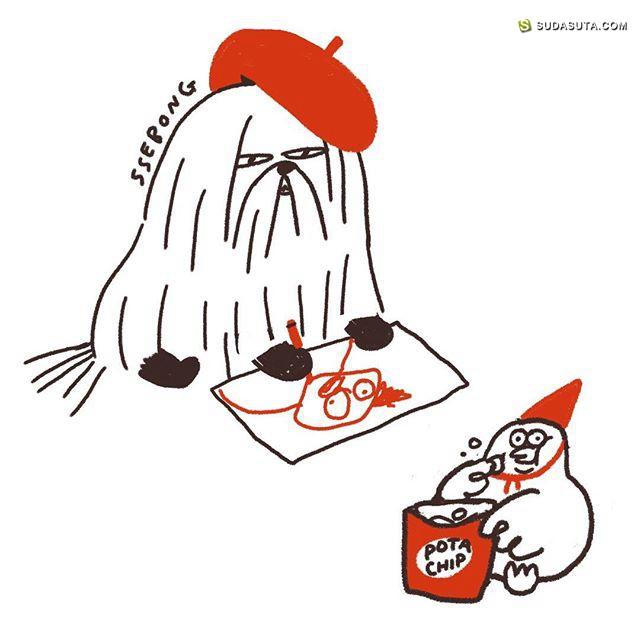 SSEBONG 蠢萌可爱的儿童插画欣赏