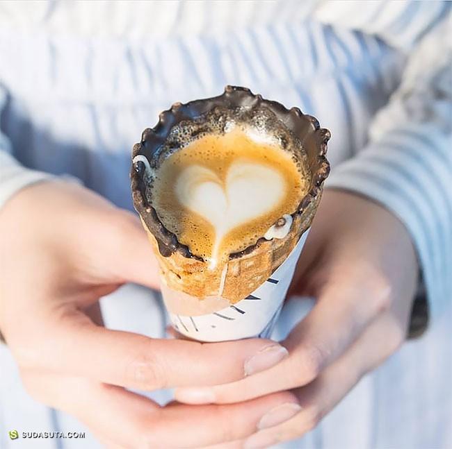 Coffeeinacone  不可思议的咖啡蛋卷