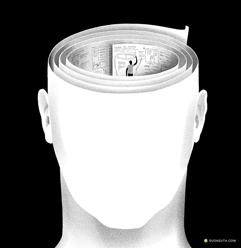 Daniel Stolle 黑白装饰插画欣赏
