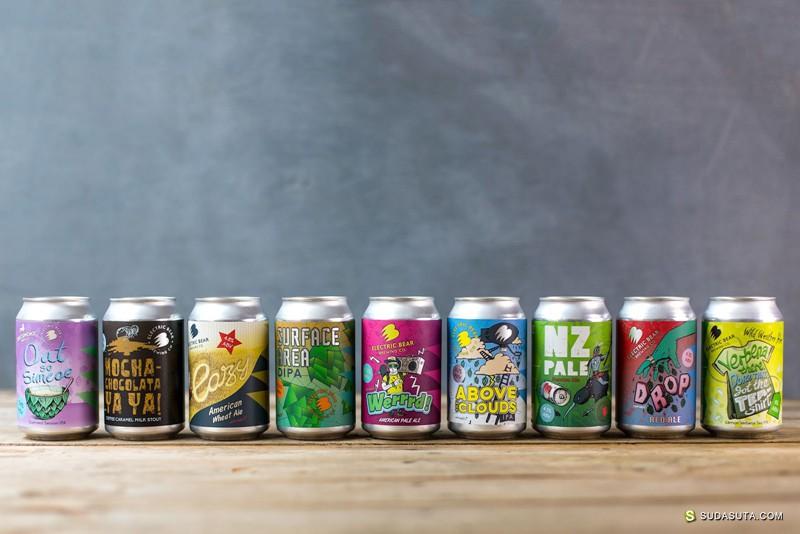 Electric Bear Brewing 啤酒的潮流包装设计