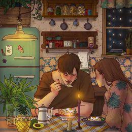 Hyocheon Jeong 关于爱情的绘画日记