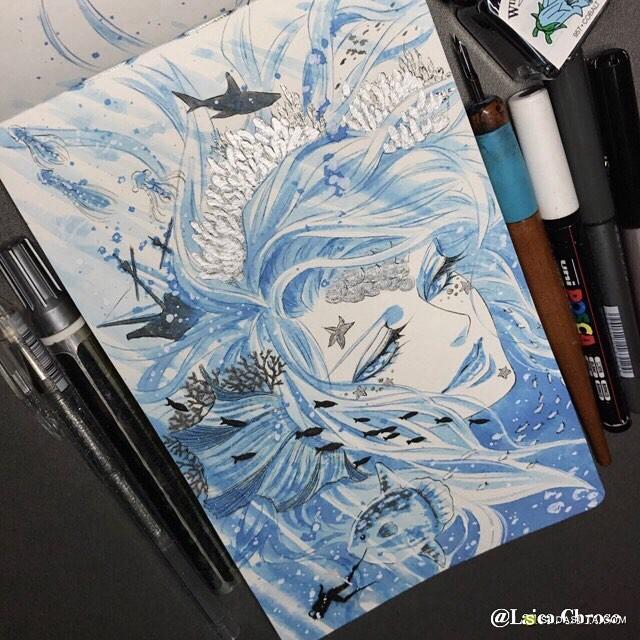 Laica Chrose  手绘水彩插画欣赏