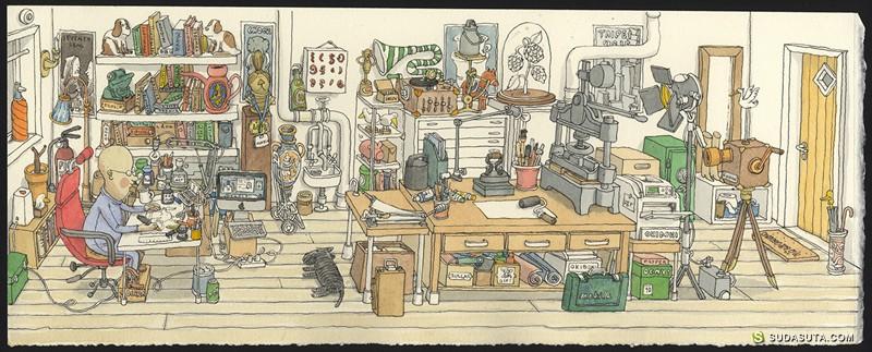 Mattias Adolfsson 奇思妙想的手绘世界