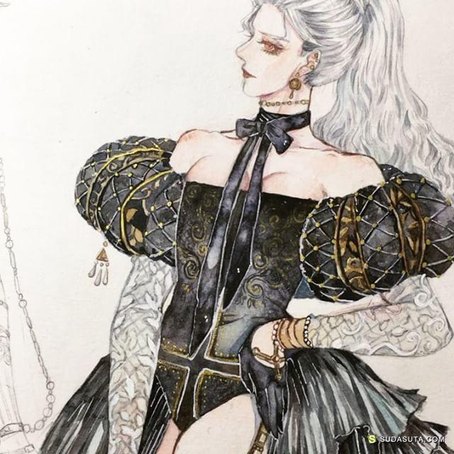 Mattinata Wai 水彩复古插画