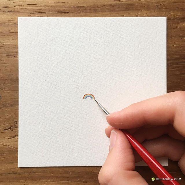Lorraine Loots 超迷你的手绘插画