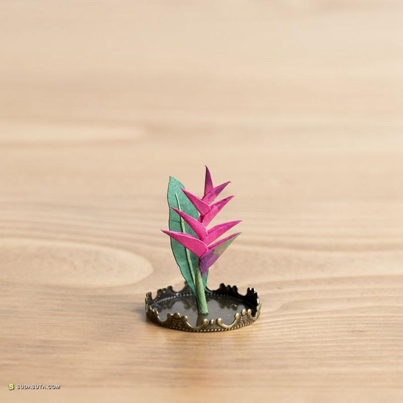 Raya Sader Bujana 迷你植物园 纸张艺术欣赏