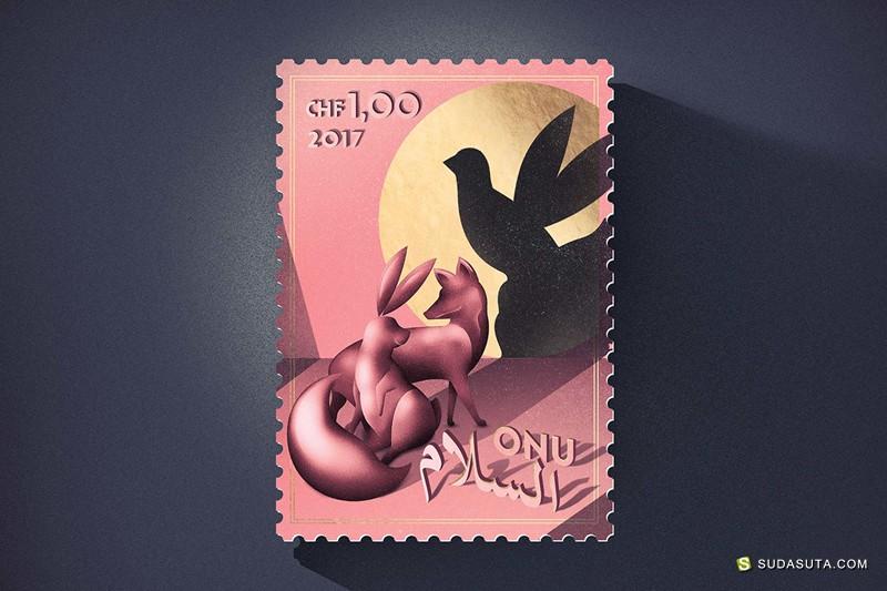 Stranger & Stranger 联合国国际和平邮票设计欣赏