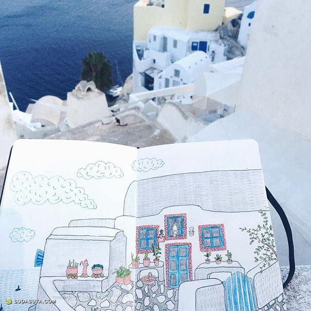 Triin Valvas 粉红色城市 绘本旅行日记